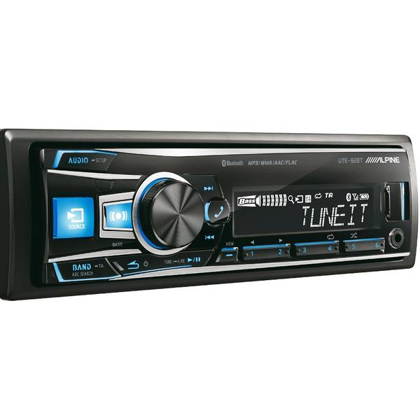 FLAC/MP3/WMA/AAC/USB/iPod/Aux-ресивер, Bluetooth - Alpine UTE-92BT