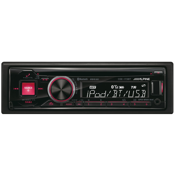CD/MP3/WMA/AAC/USB/iPod-ресивер, FM-тюнер, Bluetooth