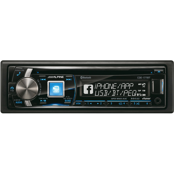 iPod/USB/CD/MP3/WMA/AAC-ресивер, FM-тюнер, Bluetooth