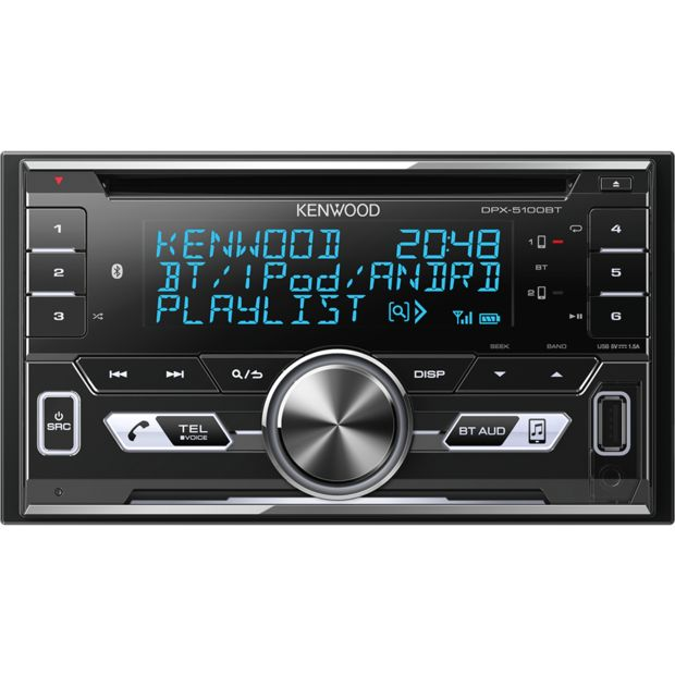 2DIN магнитола с Bluetooth - Kenwood DPX-5100BT